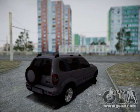 Chevrolet Niva para GTA San Andreas vista posterior izquierda