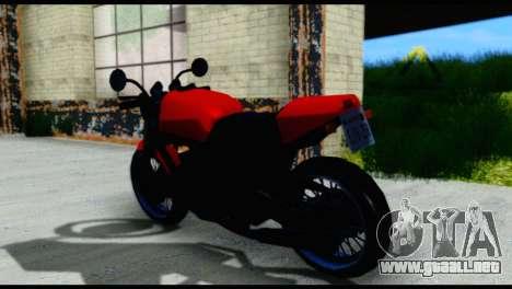 Streetfighter from Vice City Stories para GTA San Andreas vista posterior izquierda