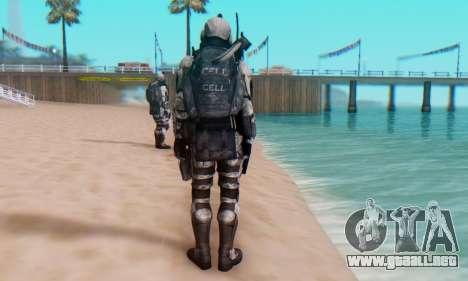 C.E.L.L. Soldier (Crysis 2) para GTA San Andreas sexta pantalla