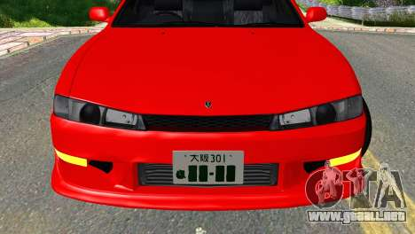 Nissan Silvia S14 Ks para GTA San Andreas vista hacia atrás