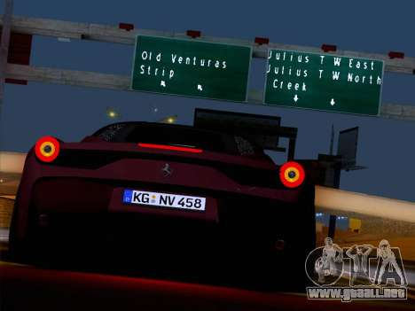 Ferrari 458 Special para visión interna GTA San Andreas