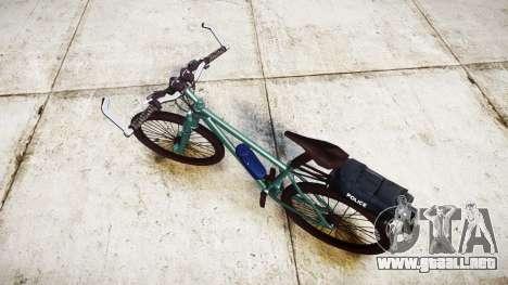 La policía de la bicicleta de montaña [ELS] para GTA 4 Vista posterior izquierda