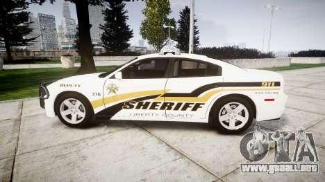 Dodge Charger 2013 Sheriff [ELS] v3.2 para GTA 4 left