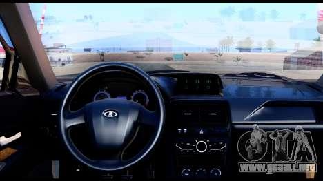 Lada Priora 2 para GTA San Andreas vista posterior izquierda