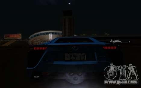 Lexus LF-A 2010 para vista lateral GTA San Andreas