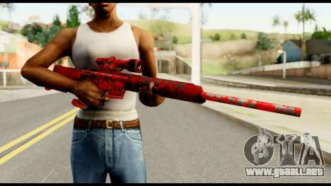 Sniper Rifle with Blood para GTA San Andreas tercera pantalla