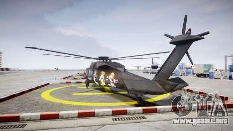 Sikorsky MH-X Silent Hawk [EPM] Printemps para GTA 4 Vista posterior izquierda