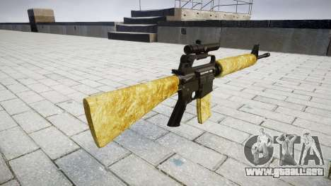 El rifle M16A2 [óptica] de oro para GTA 4 segundos de pantalla