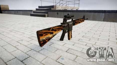El rifle M16A2 [óptica] tigre para GTA 4 segundos de pantalla