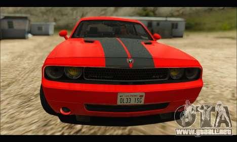Dodge Challenger SRT-8 2010 v2.0 para GTA San Andreas left