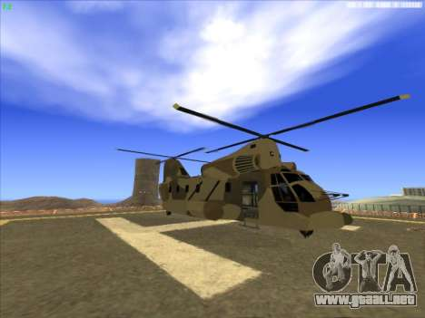 GTA 5 Cargobob para GTA San Andreas left