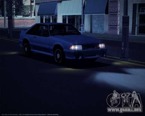 ENBSeries débiles y medianas PC para GTA San Andreas segunda pantalla