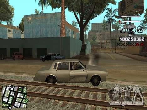 Nice C-HUD para GTA San Andreas sucesivamente de pantalla