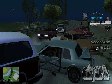 C-HUD Old Legend para GTA San Andreas quinta pantalla