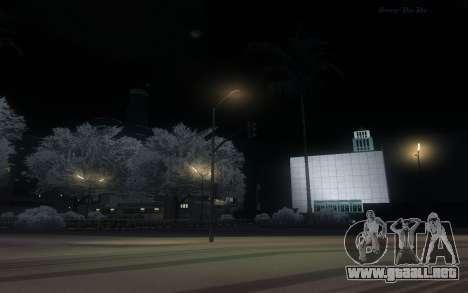 Snow Mod para GTA San Andreas sucesivamente de pantalla