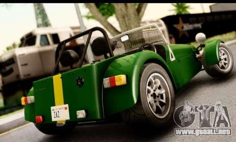 Caterham Seven 1995 para GTA San Andreas left
