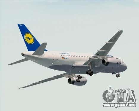 Airbus A319-100 Lufthansa para las ruedas de GTA San Andreas