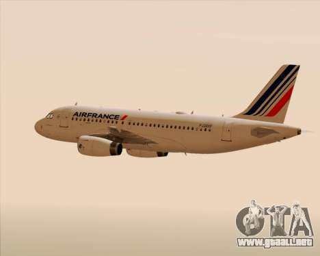 Airbus A319-100 Air France para el motor de GTA San Andreas
