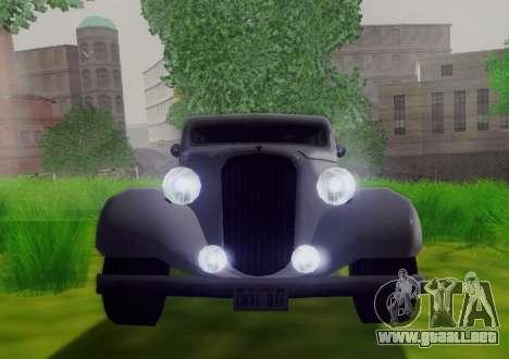Hustler Limousine para GTA San Andreas vista hacia atrás