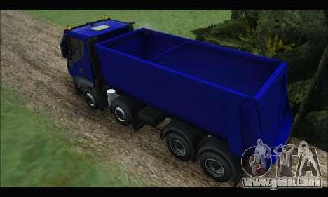 Iveco Trakker 2014 Tipper para GTA San Andreas vista hacia atrás
