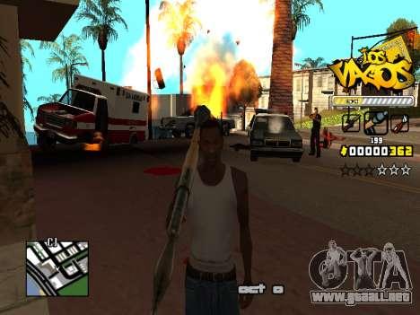 C-HUD Los Santos Vagos Gang para GTA San Andreas sexta pantalla