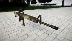 El rifle M16A2 [óptica] woodland