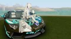 Itasha PJ from Lamborghini Aventador LP700-4 para GTA San Andreas