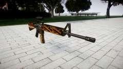El rifle M16A2 [óptica] tigre