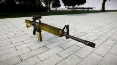 El rifle M16A2 [óptica] de oliva