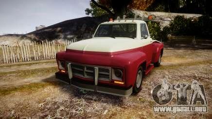 Vapid Towtruck Restored stripeless tires para GTA 4