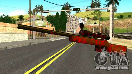 Rifle with Blood para GTA San Andreas
