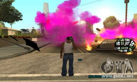 New Pink Effects para GTA San Andreas sucesivamente de pantalla