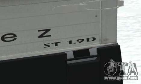 Daewoo FSO Polonez Truck Plus ST 1.9 D 2000 para visión interna GTA San Andreas