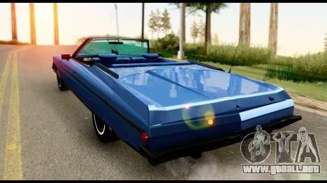 Chevy Caprice 1975 Beta v3 para GTA San Andreas left