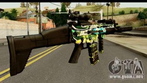 Grafiti M4 para GTA San Andreas segunda pantalla