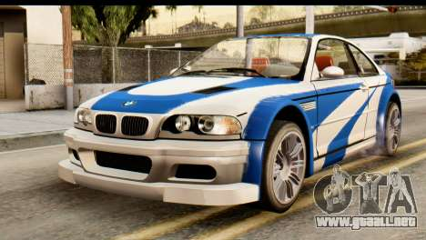 BMW M3 E46 GTR NFS MW para GTA San Andreas