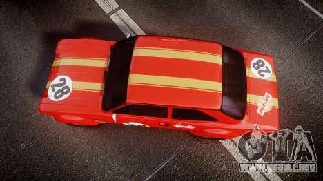 Ford Escort RS1600 PJ28 para GTA 4 visión correcta