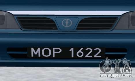 Daewoo-FSO Polonez Kombi 1.6 GSI Police 2000 para vista lateral GTA San Andreas
