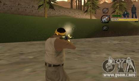 C-HUD TaweR Green para GTA San Andreas segunda pantalla