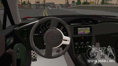 Toyota GT86 (ZN6) 2012 para visión interna GTA San Andreas