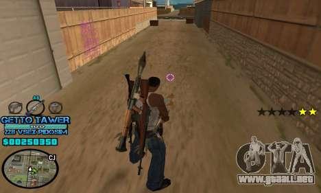 C-HUD Ghetto by Inovator para GTA San Andreas