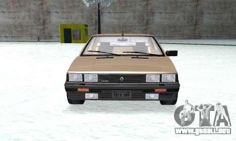 Renault 11 Turbo Phase I 1984 para la visión correcta GTA San Andreas