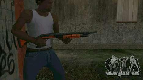 Orange Shotgun para GTA San Andreas tercera pantalla