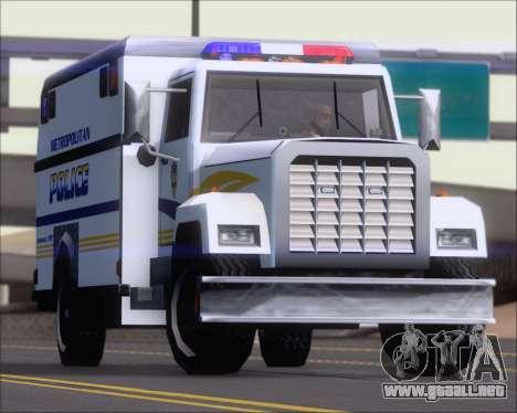 Enforcer Metropolitan Police para visión interna GTA San Andreas