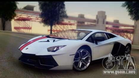 Lamborghini Aventador para GTA San Andreas vista hacia atrás