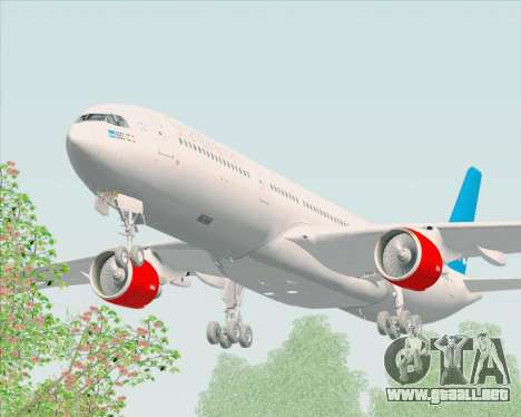 Airbus A330-300 Scandinavian Airlines para visión interna GTA San Andreas