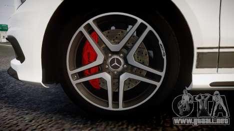 Mersedes-Benz A45 AMG PJs1 para GTA 4 vista hacia atrás