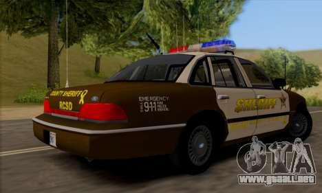 Ford Crown Victoria 1994 Sheriff para la visión correcta GTA San Andreas