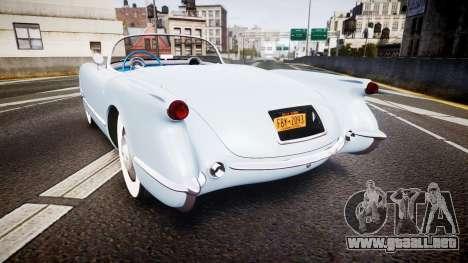 Chevrolet Corvette C1 1953 stock para GTA 4 Vista posterior izquierda