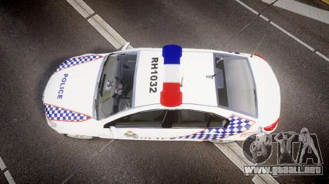 Holden VF Commodore SS Queensland Police [ELS] para GTA 4 visión correcta